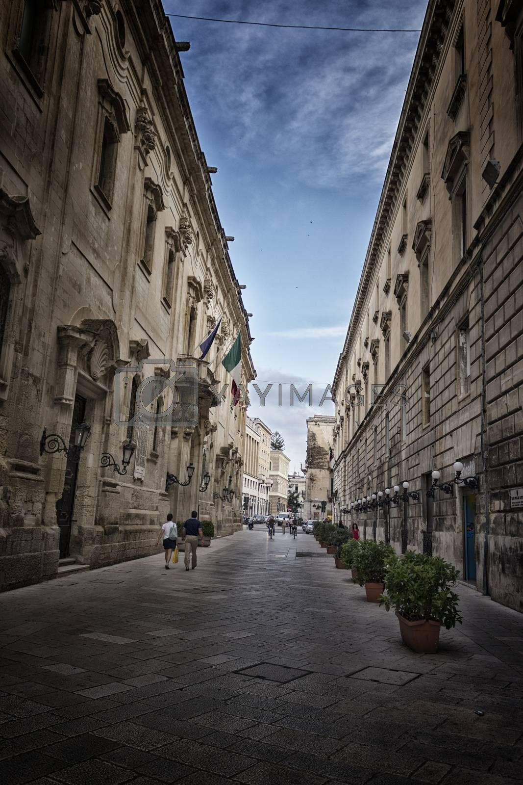 Carafa Palace in the old town of Lecce, previously Monastery of Saint Francis of Paola or Monastery of Paolotte Sisters, in the southern of Italy was  built in XVIII century and now it���s the Municipal House of Lecce