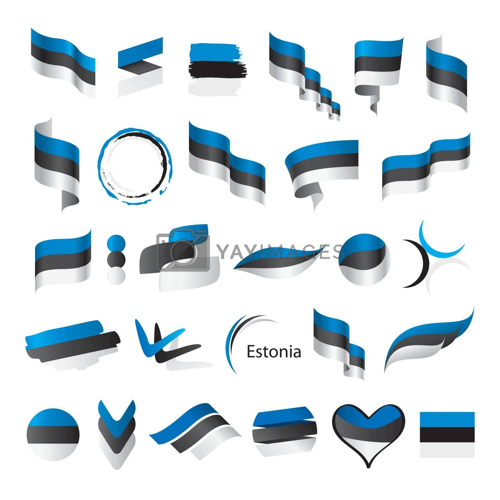 biggest collection of vector flags of Estonia