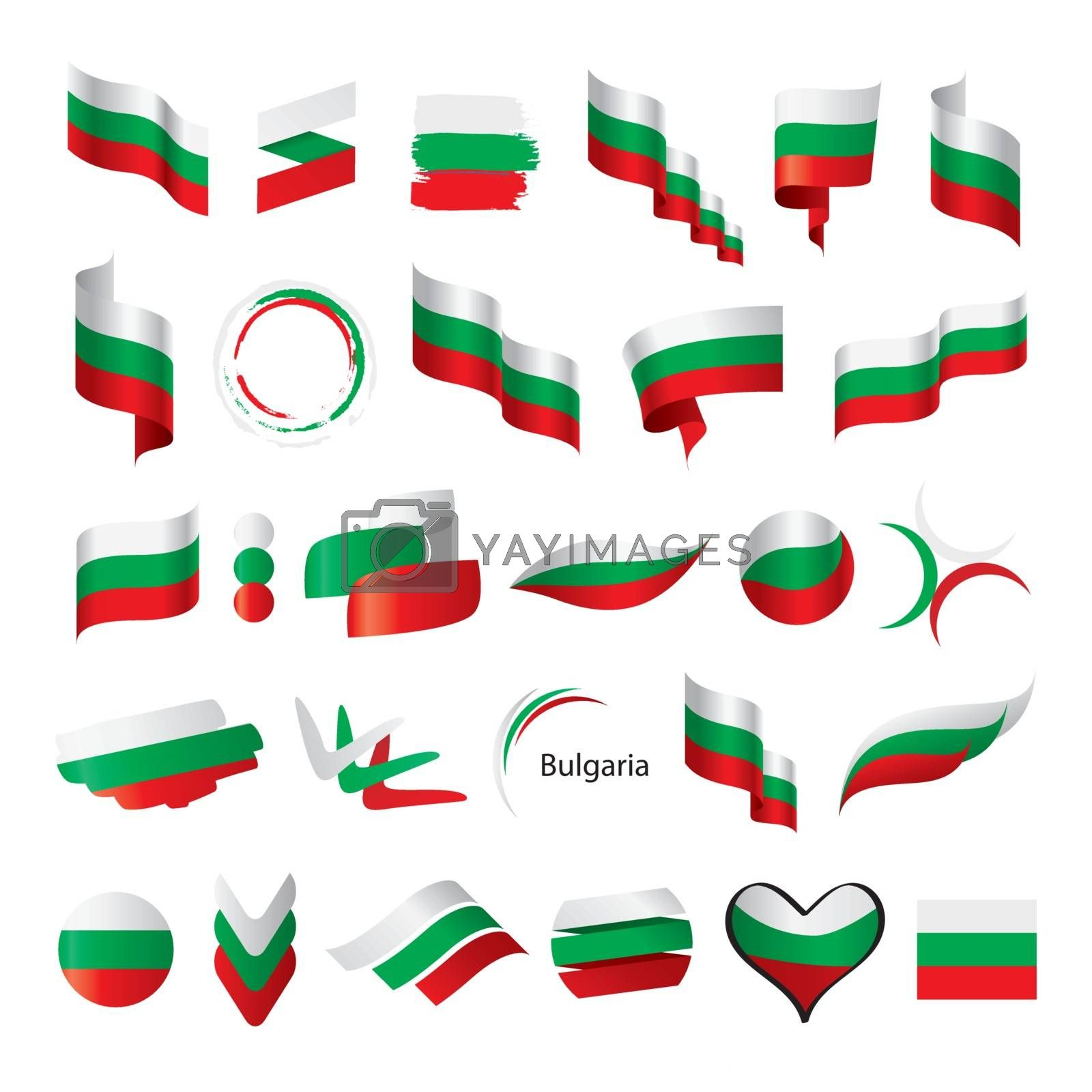 biggest collection of vector flags of Bulgaria