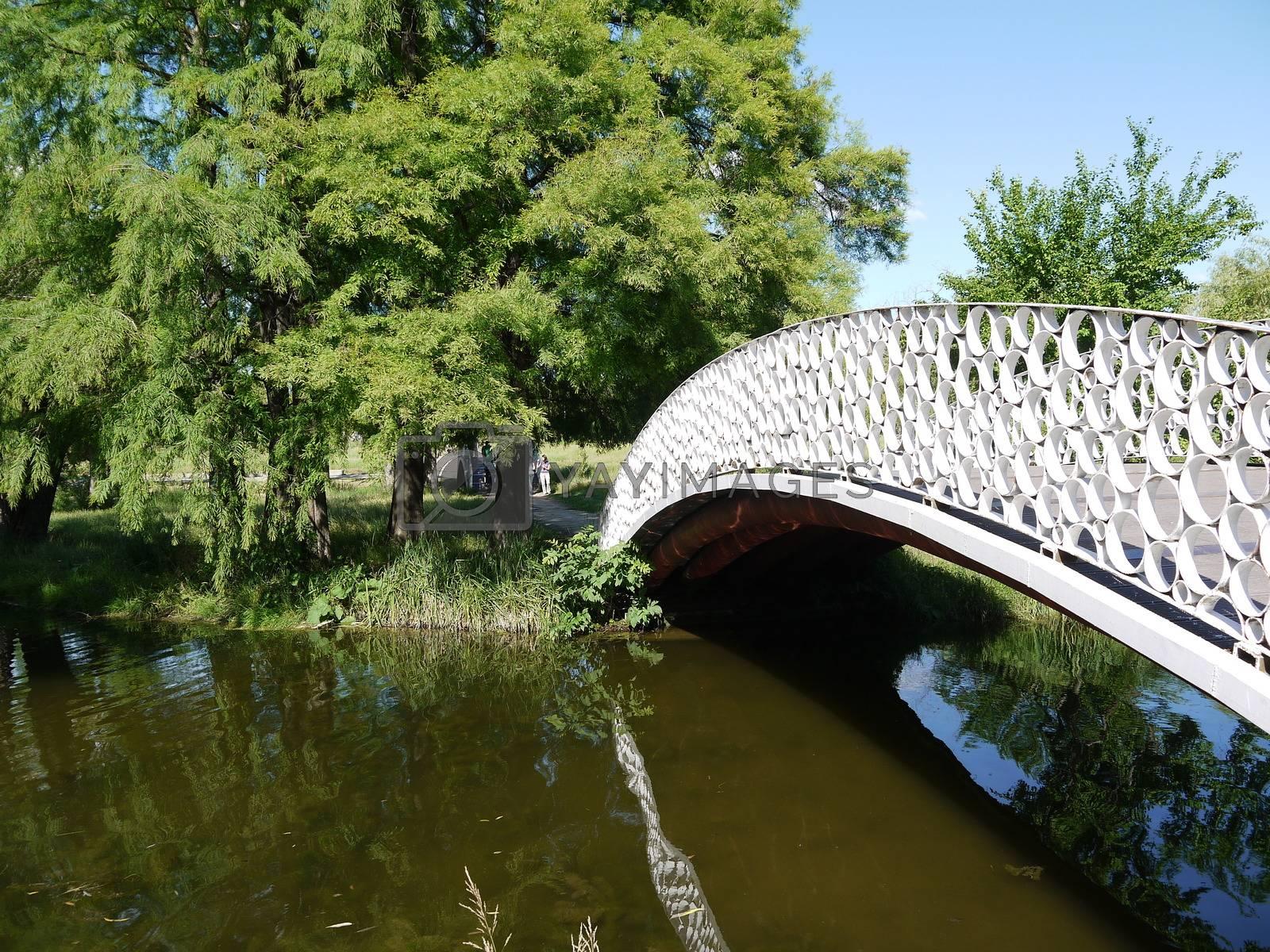 Bridge in the park of Bucharest, Romania