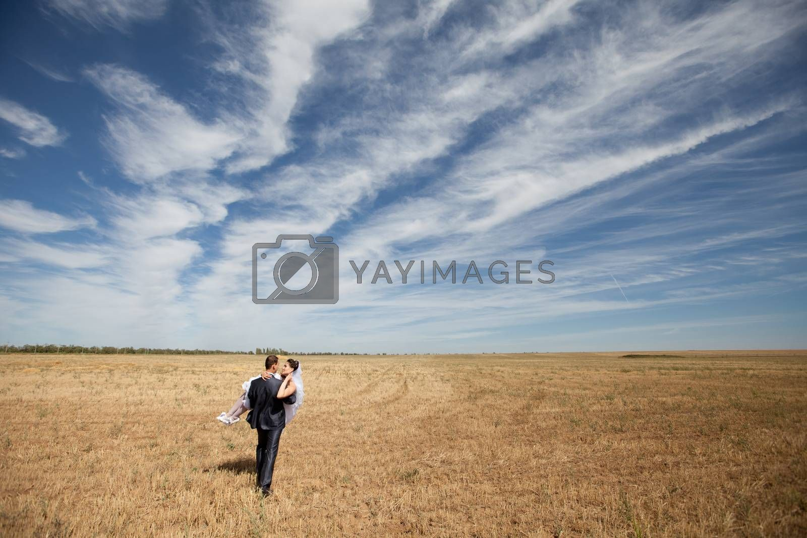 couple on the field