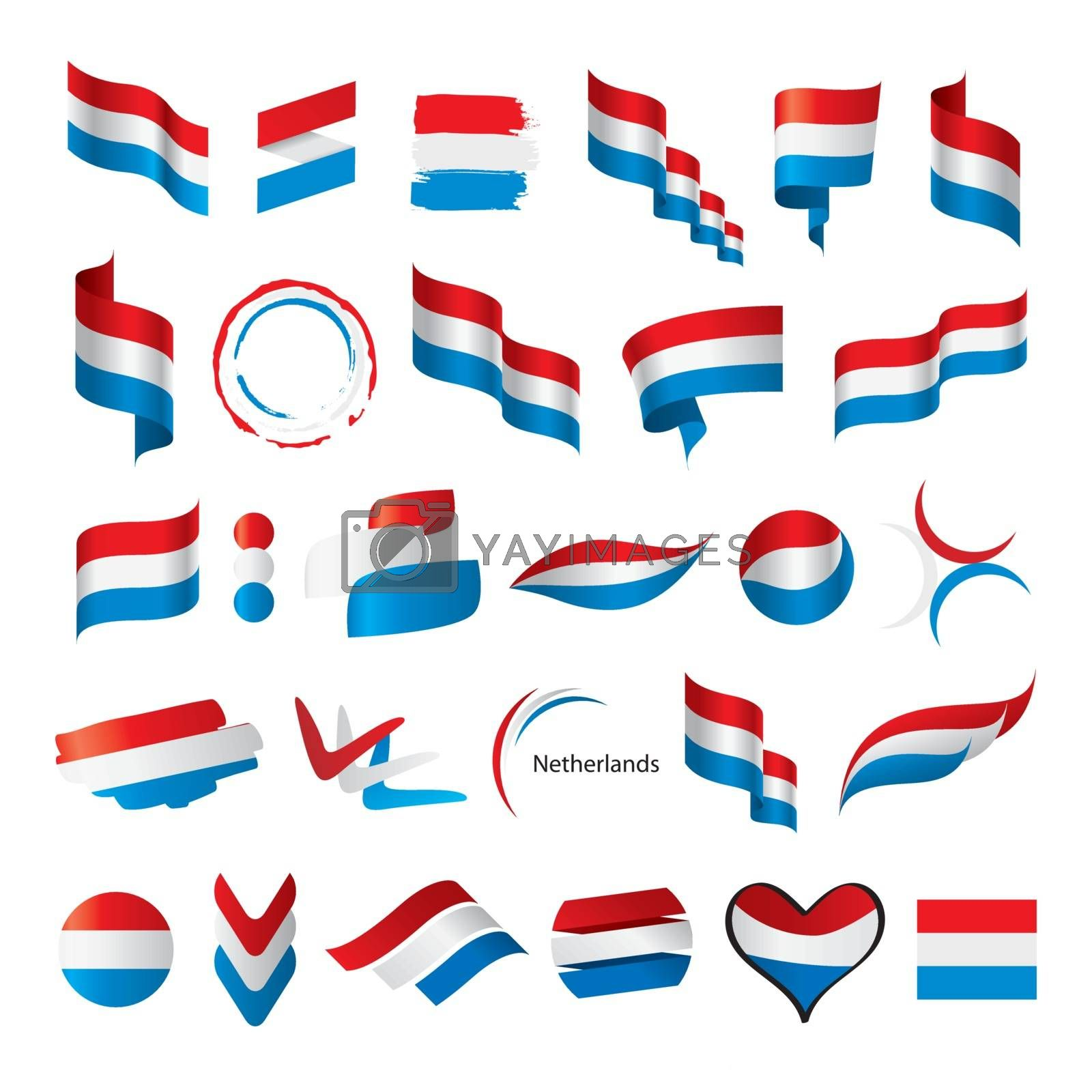 biggest collection of vector flags of Netherlands