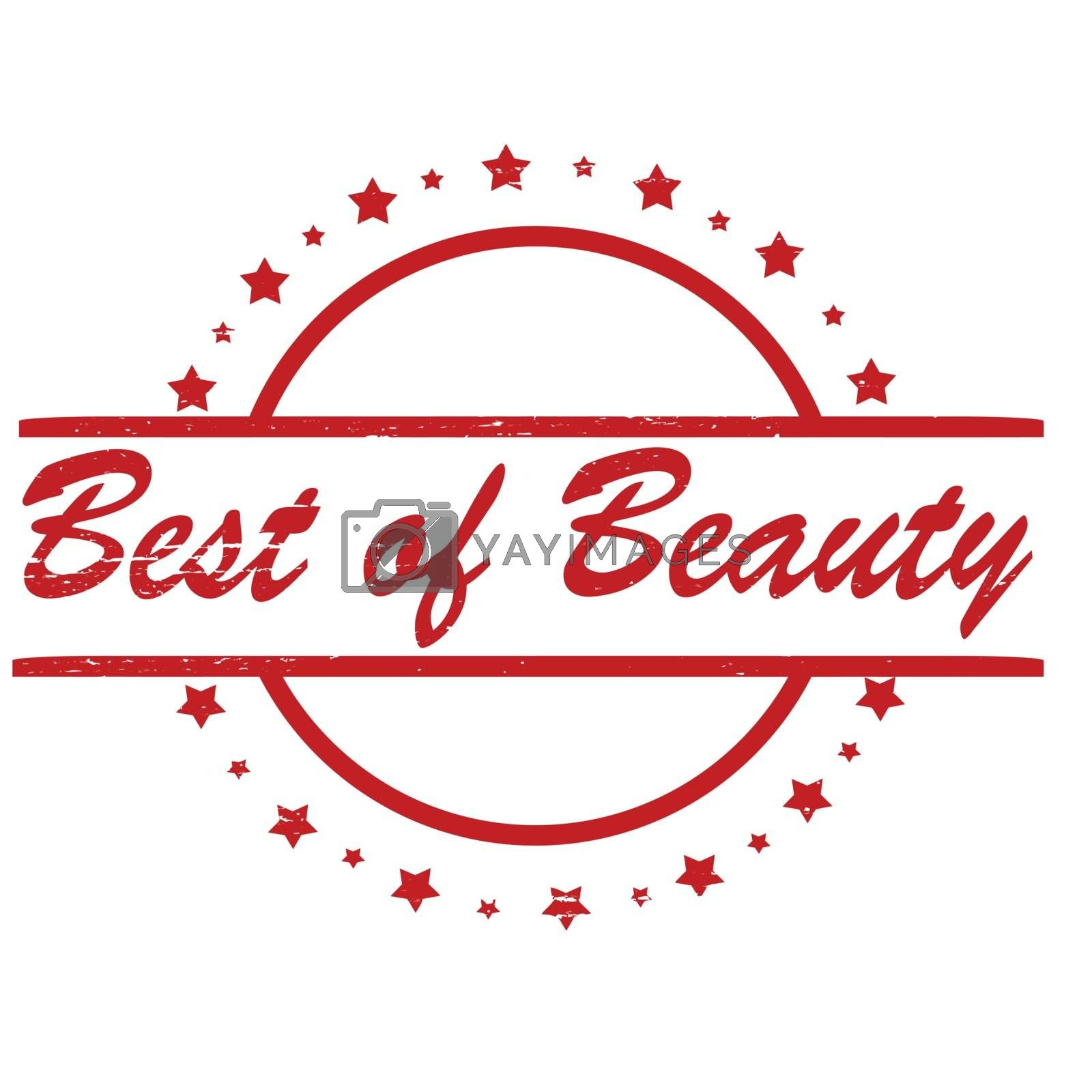 Stamp with text best of beauty inside, vector illustration