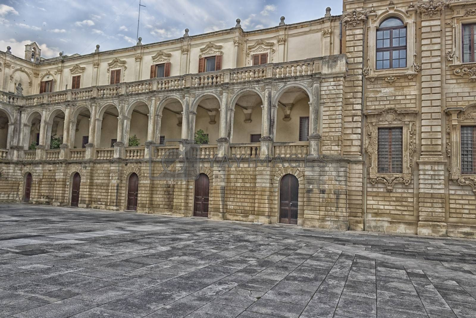 Metropolitan Cathedral of Santa Maria Assunta in the old town of Lecce in the southern Italy (17th century)