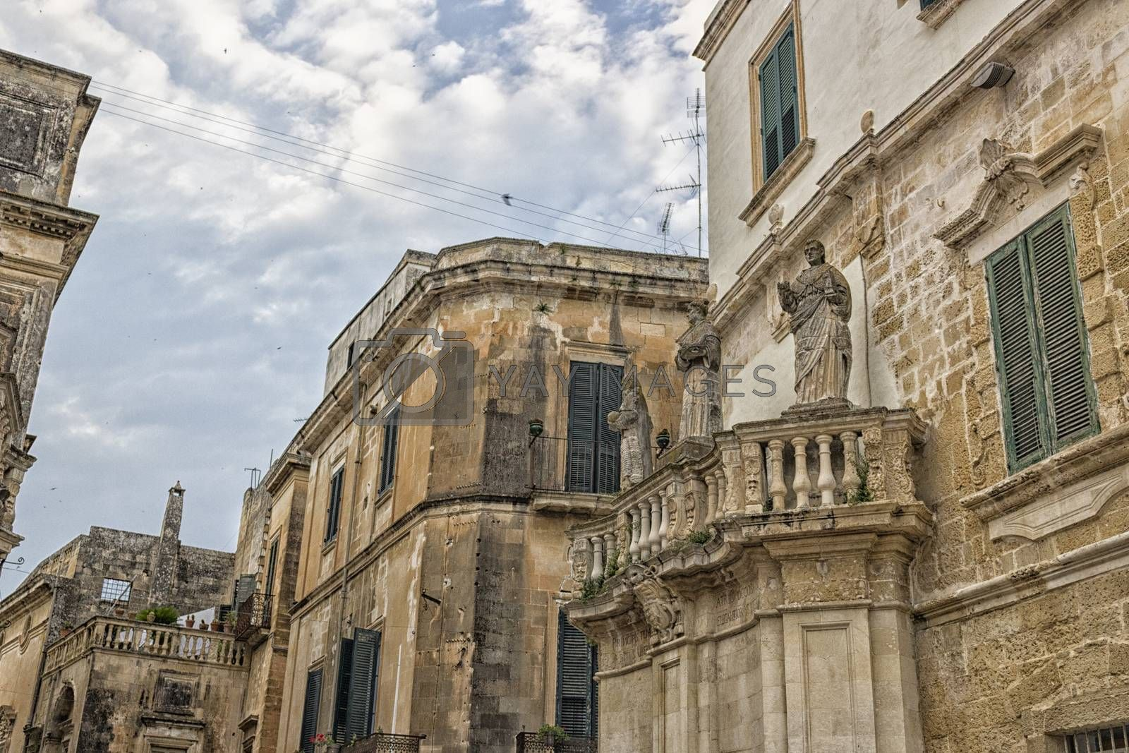 Old alley  in the old town of Lecce in the southern Italy