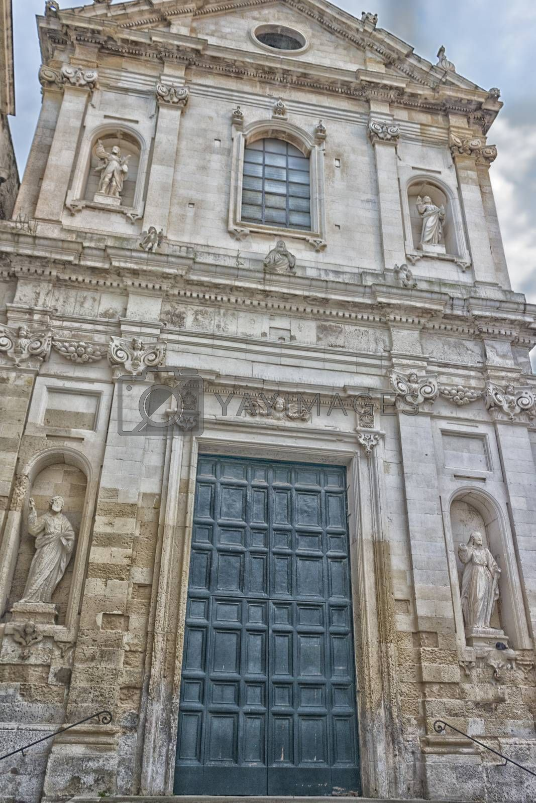 Church in the old town of Lecce in the southern Italy