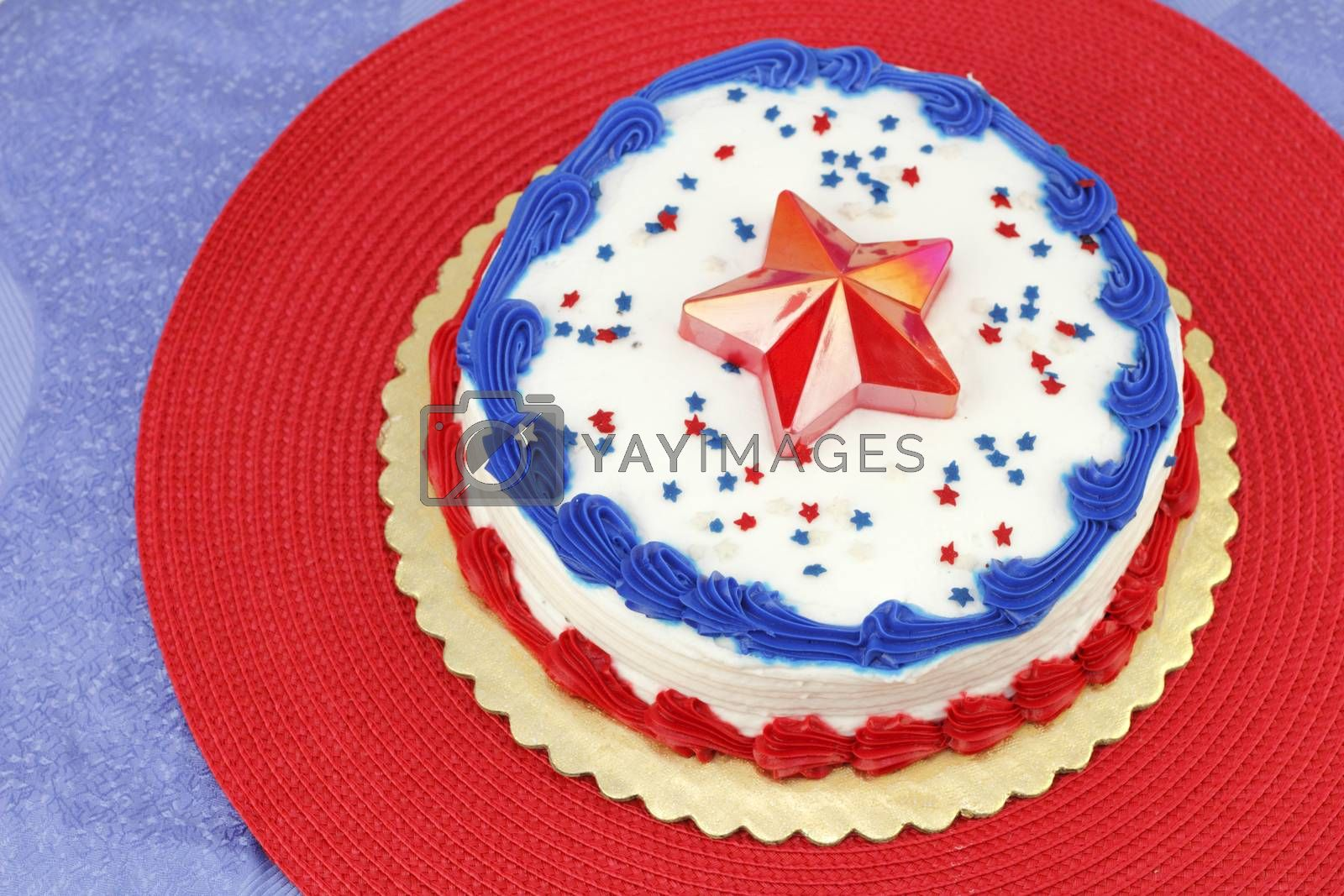 July 4th Decorated Cake by Serenethos