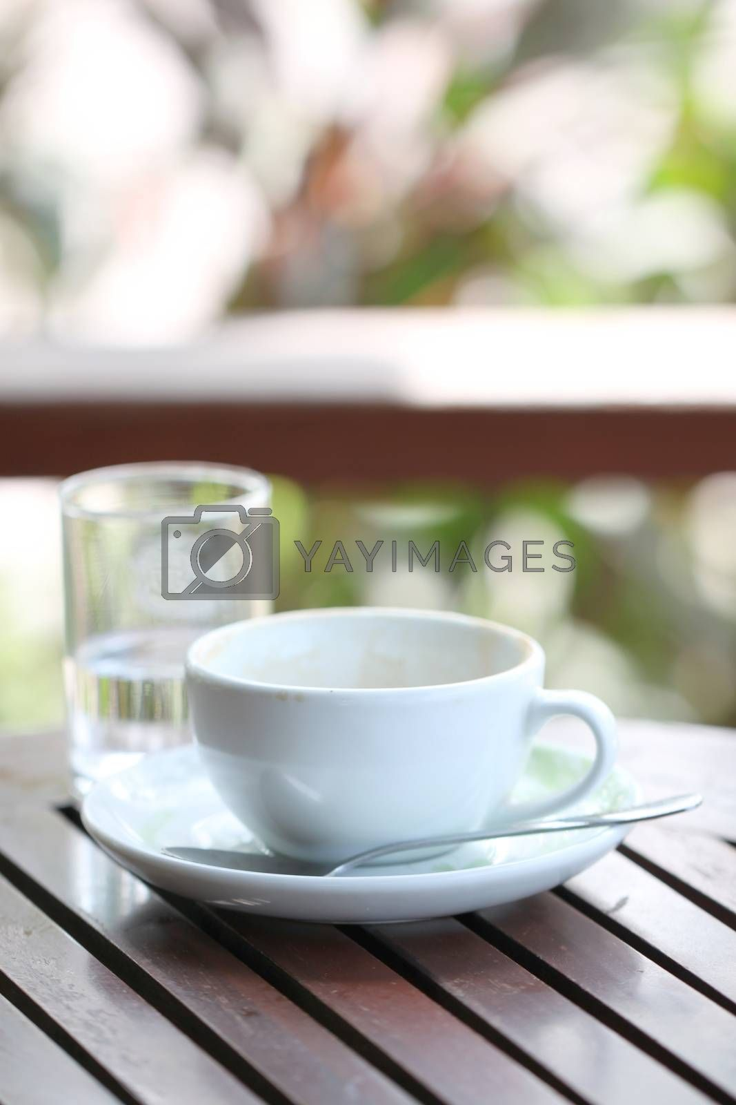 White coffee cup. by PiyaPhoto