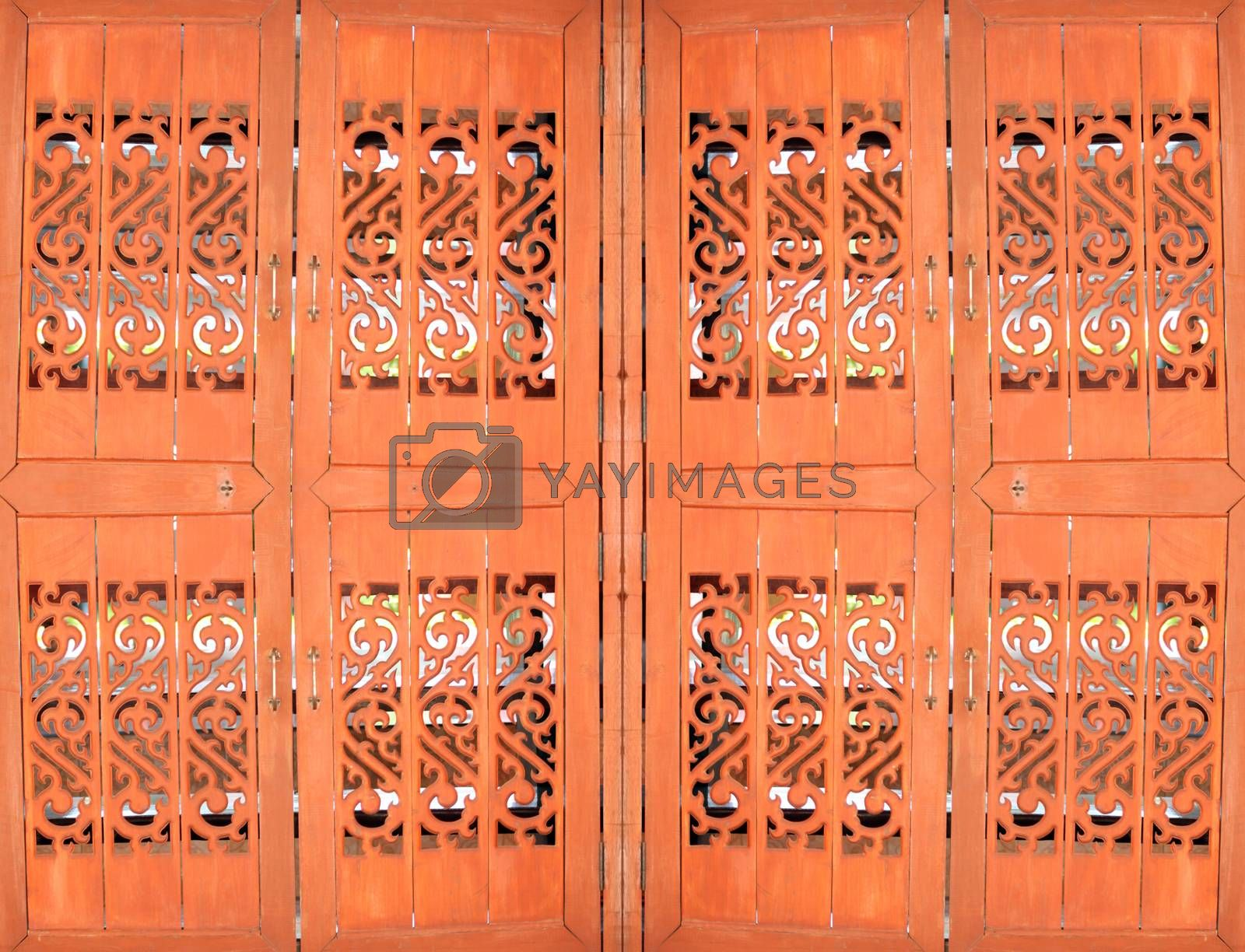 Patterns on wooden doors for the art background.