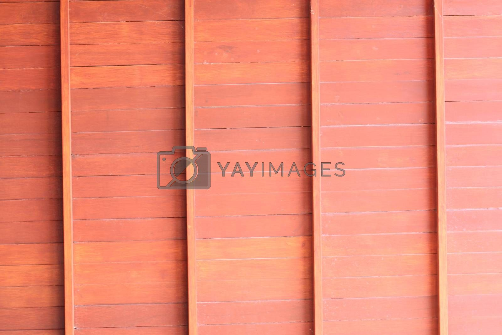 Brown wooden wall in house for background.