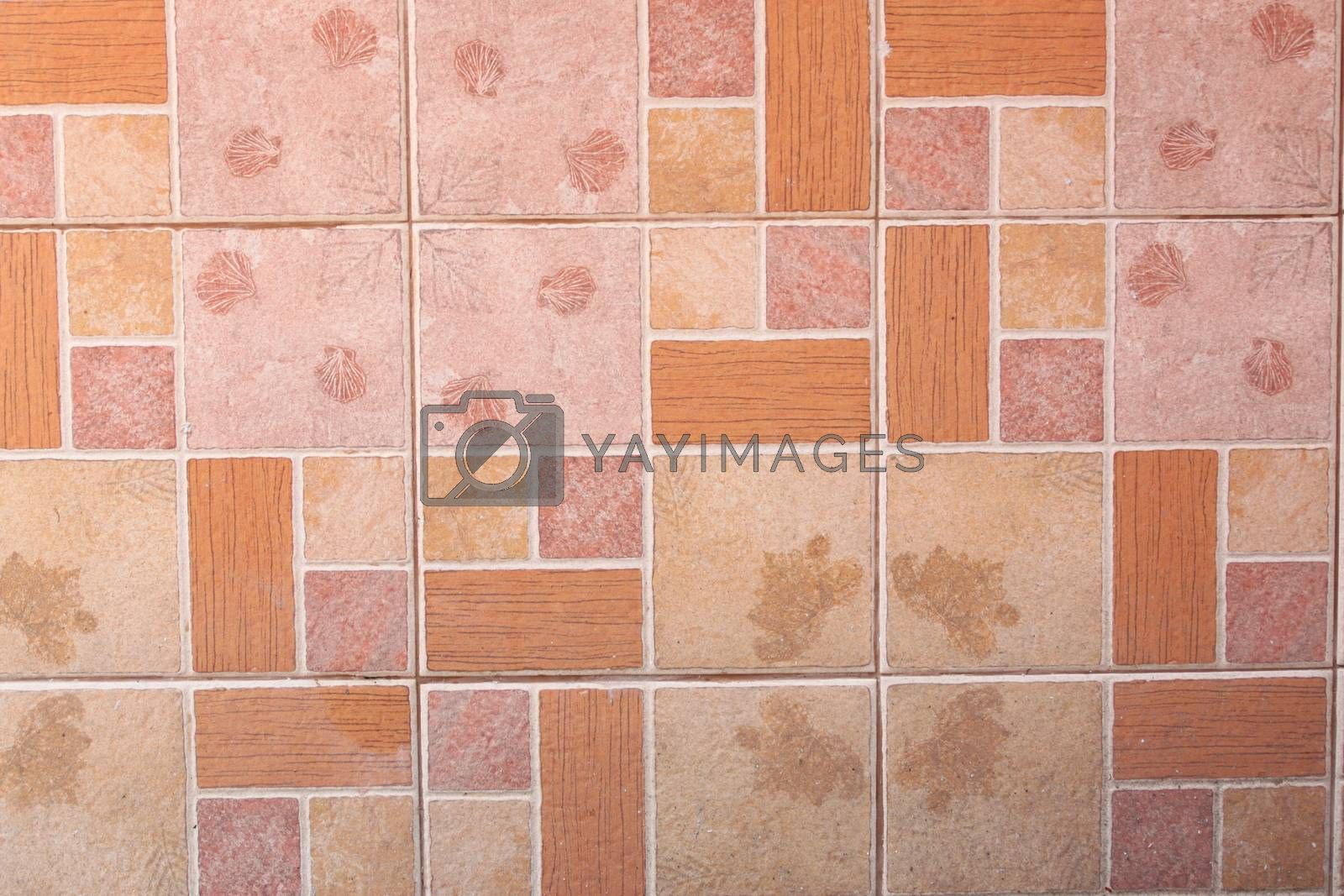 Pattern of floor tile for the background.