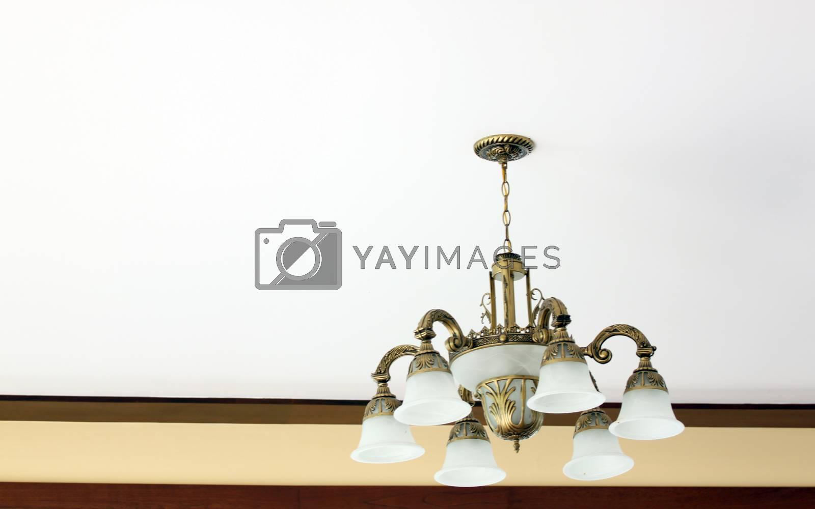 Modern ceiling lamp for interiors.