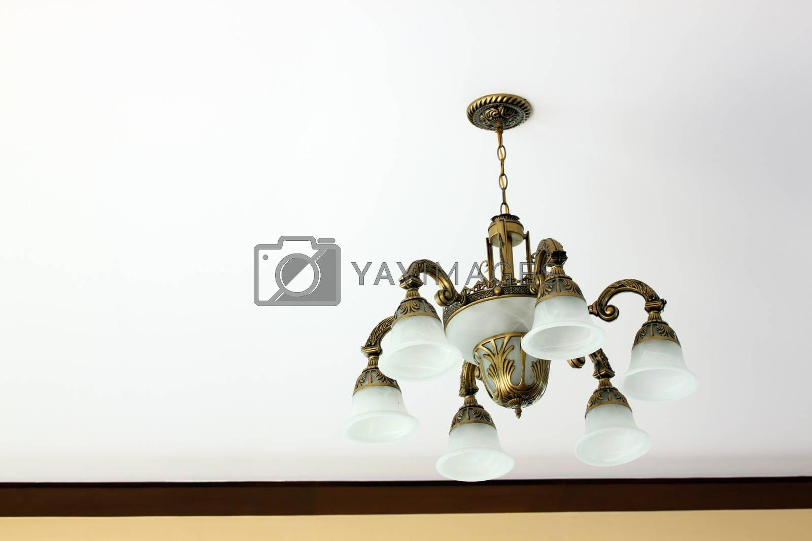 Modern ceiling lamp for interiors.