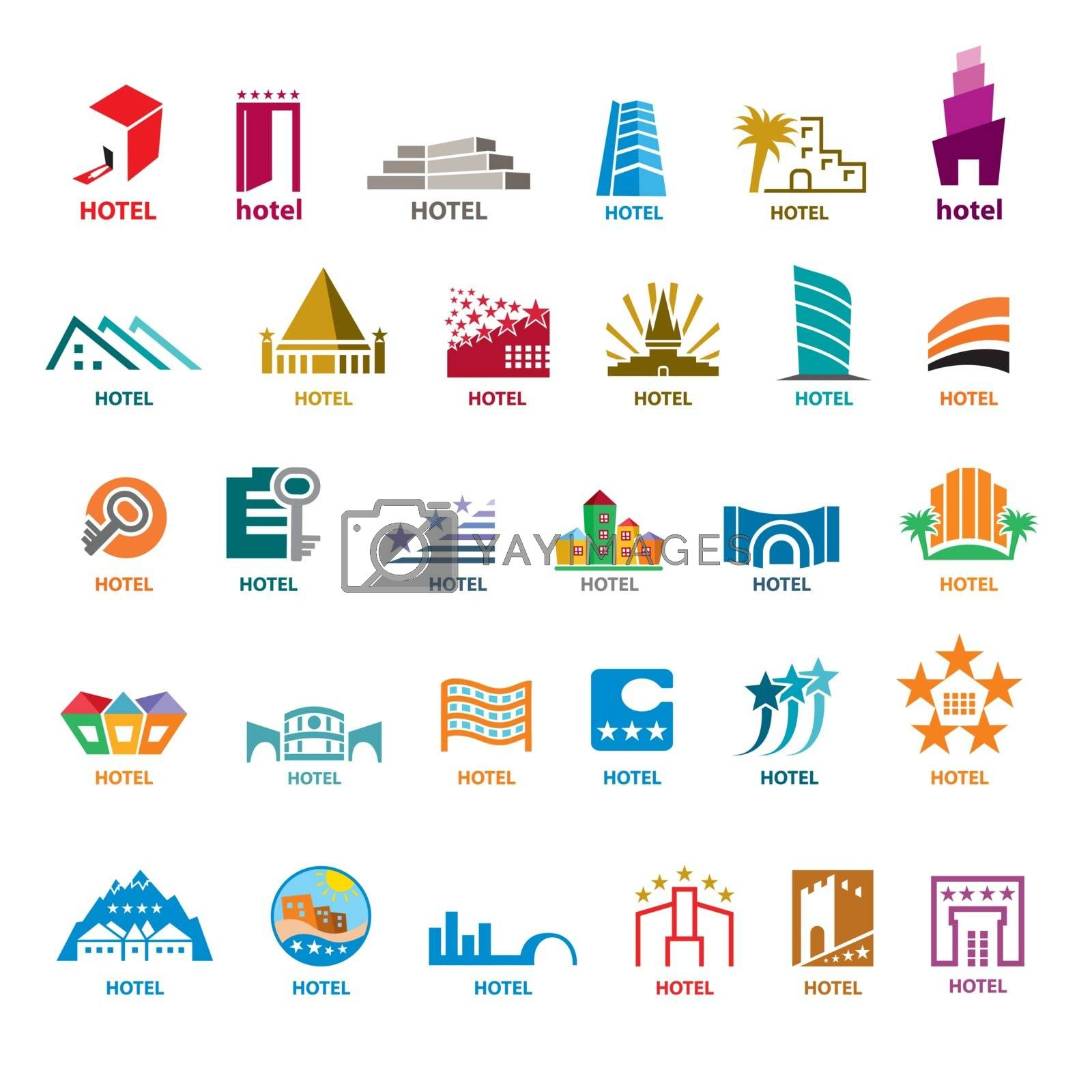 biggest collection of vector logos buildings for leisure tourism
