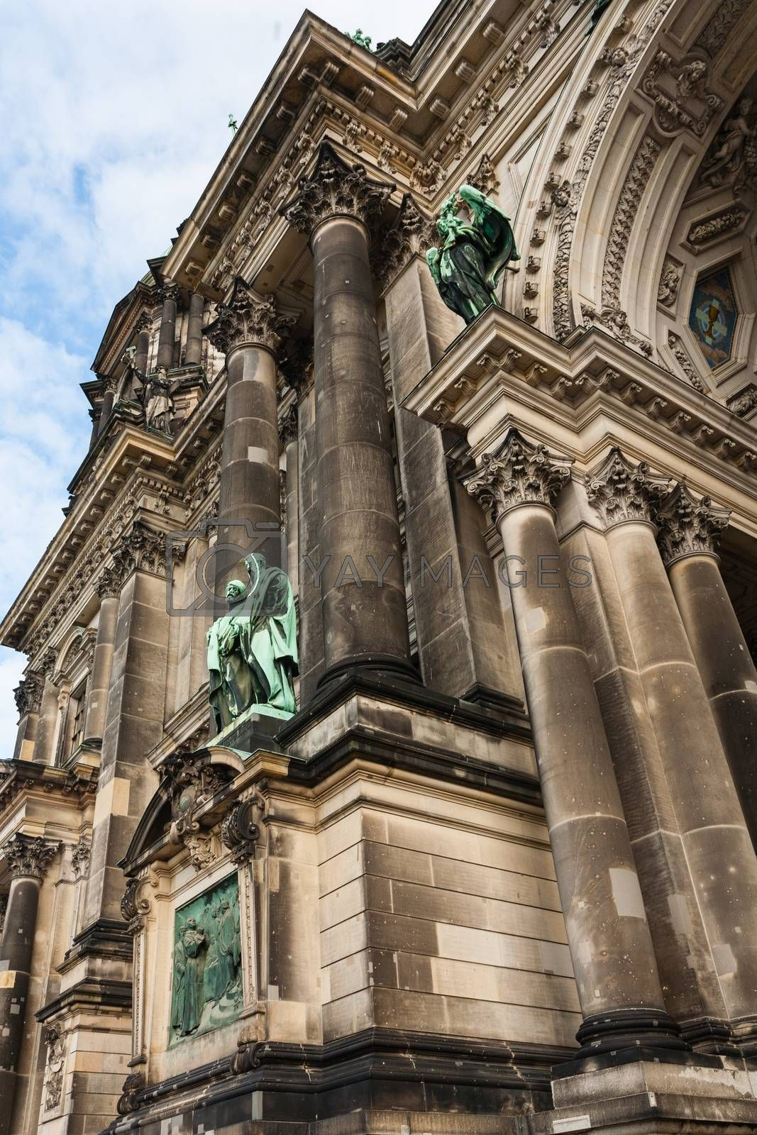closeup view in the Evangelical cathedral also known as  Supreme Parish and Collegiate Church in Berlin ,Germany