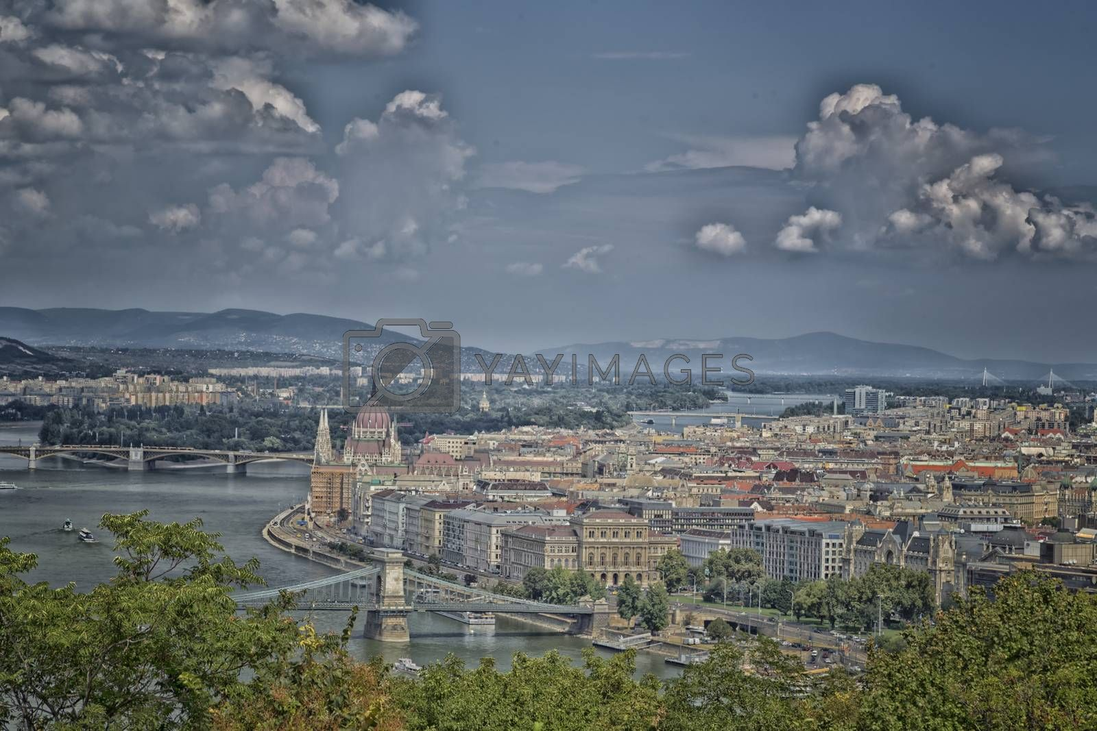 A view of the Danube river in Budapest