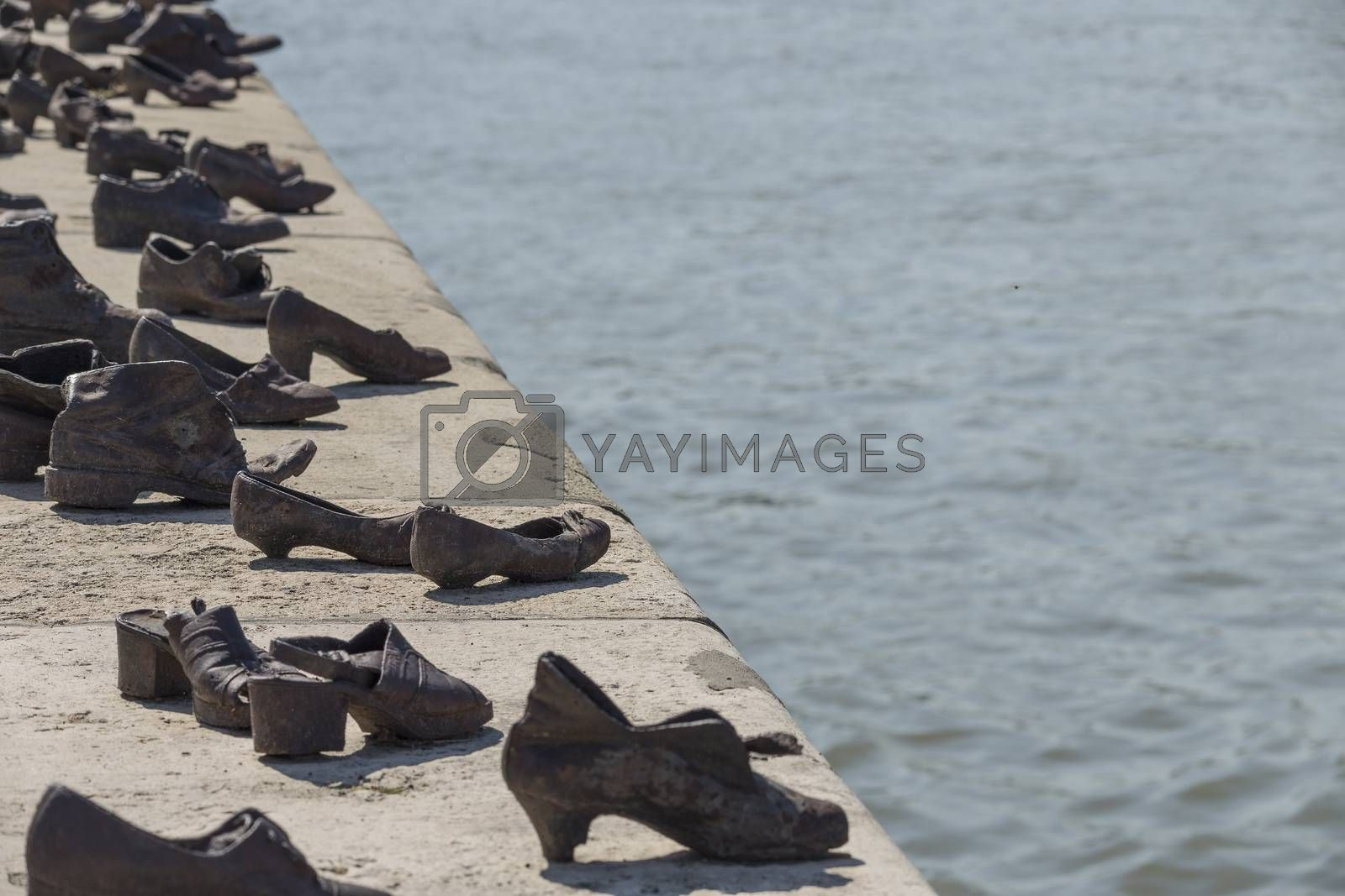 Royalty free image of Shoes on the Danube Bank in Budapest by paocasa