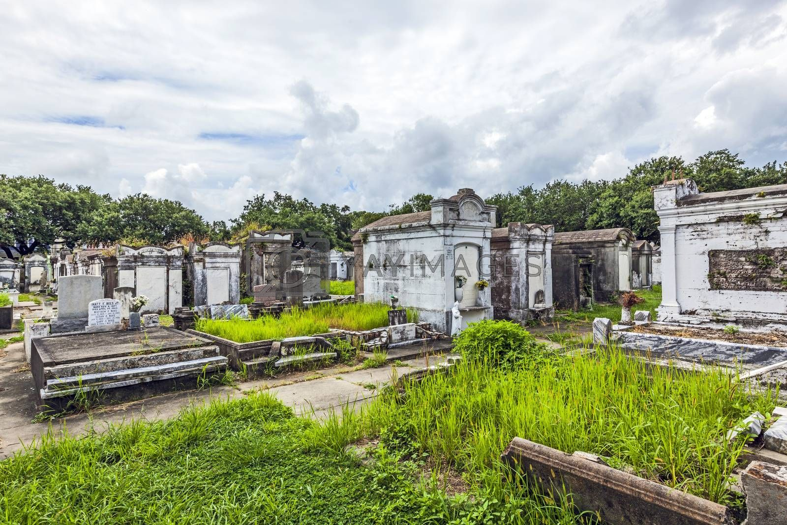 Royalty free image of Lafayette cemetery in New Orleans with historic Grave Stones  by meinzahn