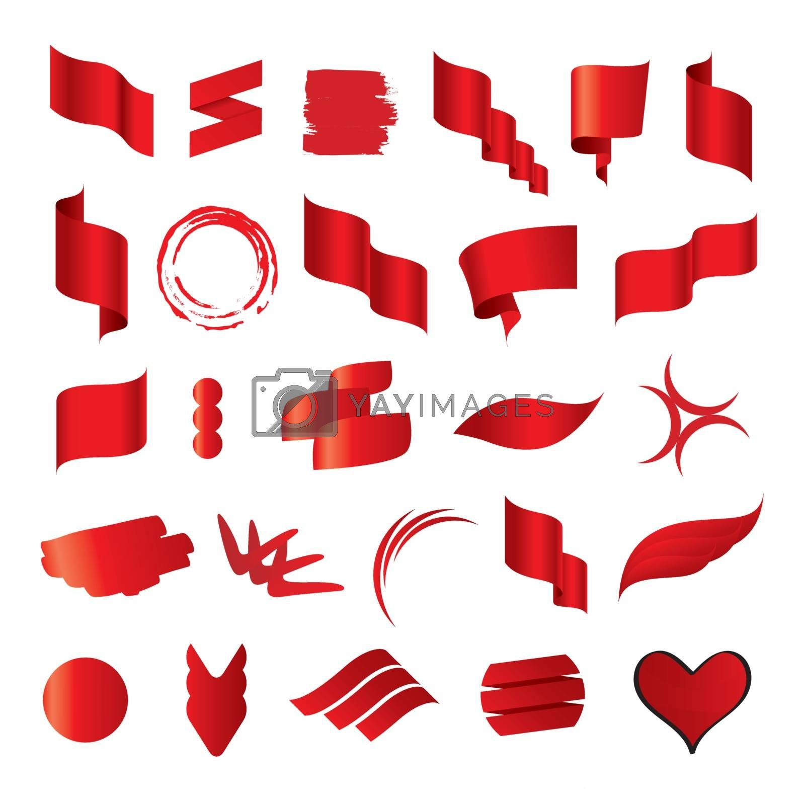 Biggest collection of vector red flags