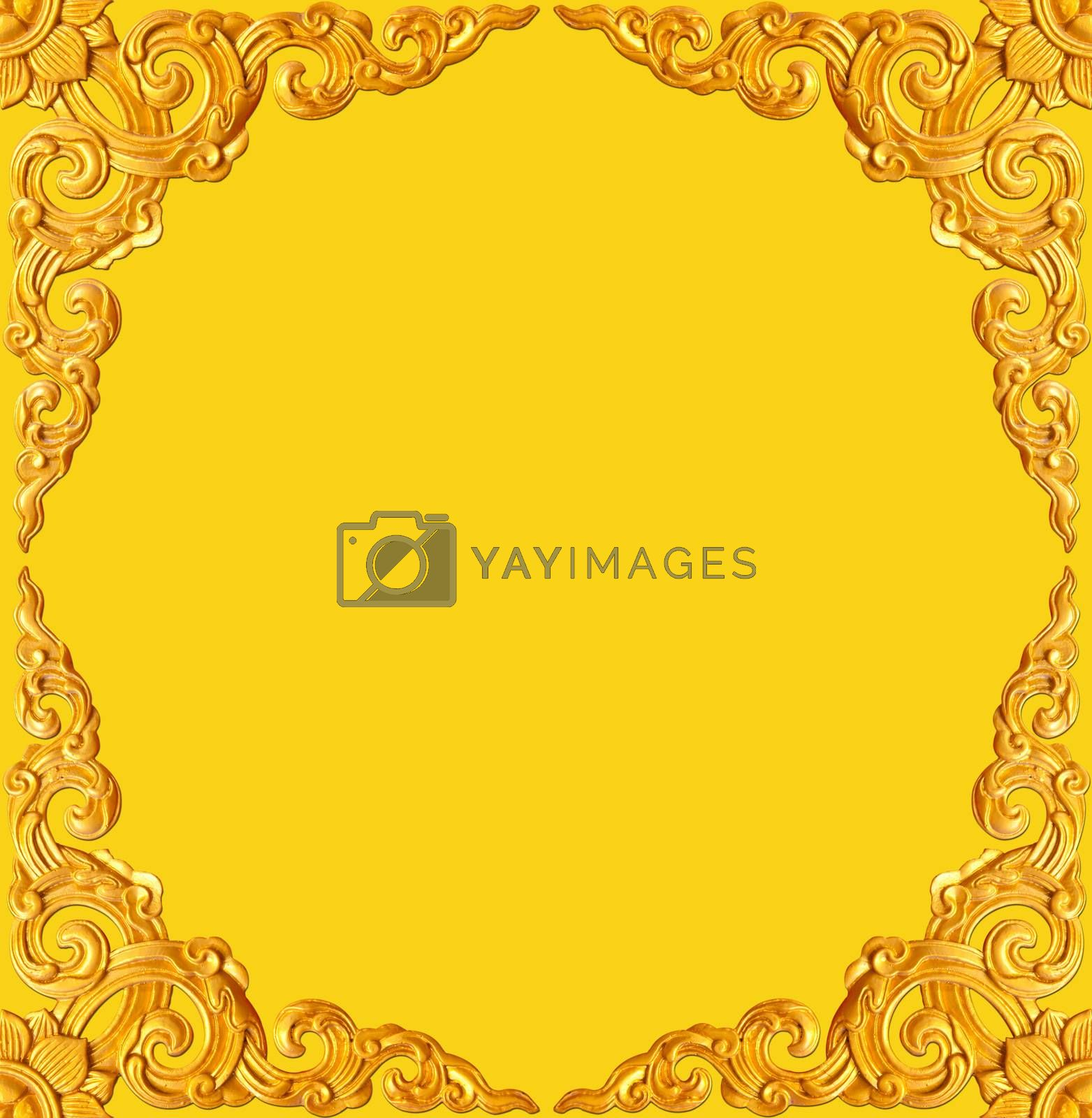 golden carve frame by witthaya