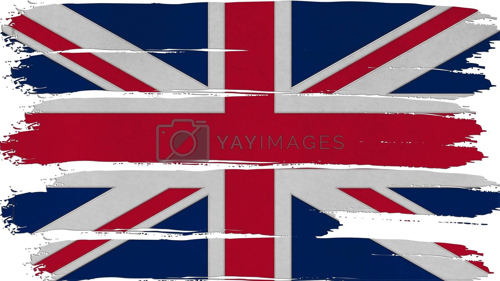 United Kingdom Flag tinted horizontal texture