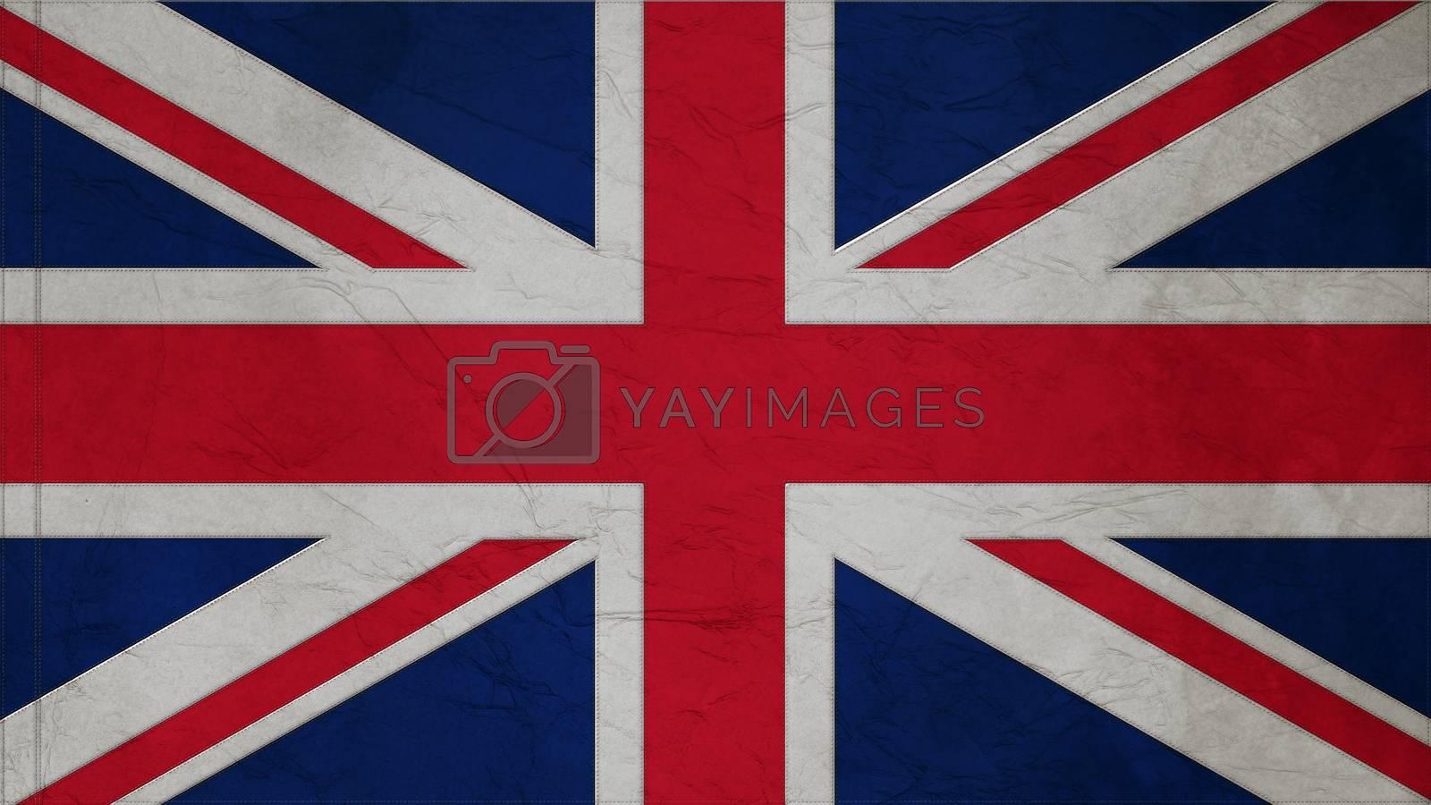 United Kingdom Flag Crepe Paper texture