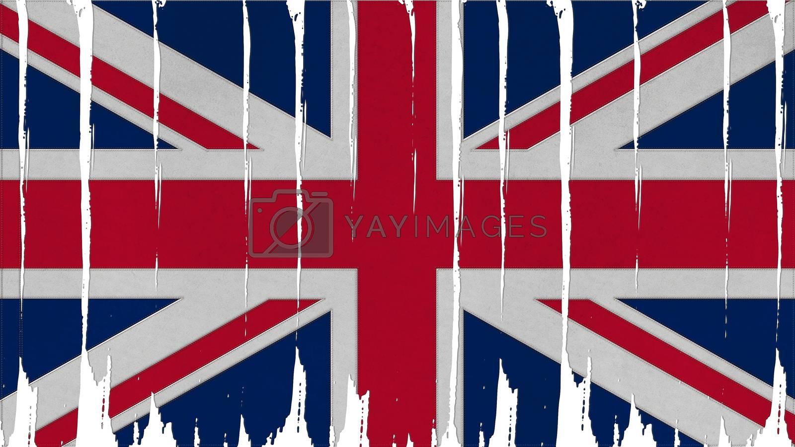 United Kingdom Flag tinted vertical texture