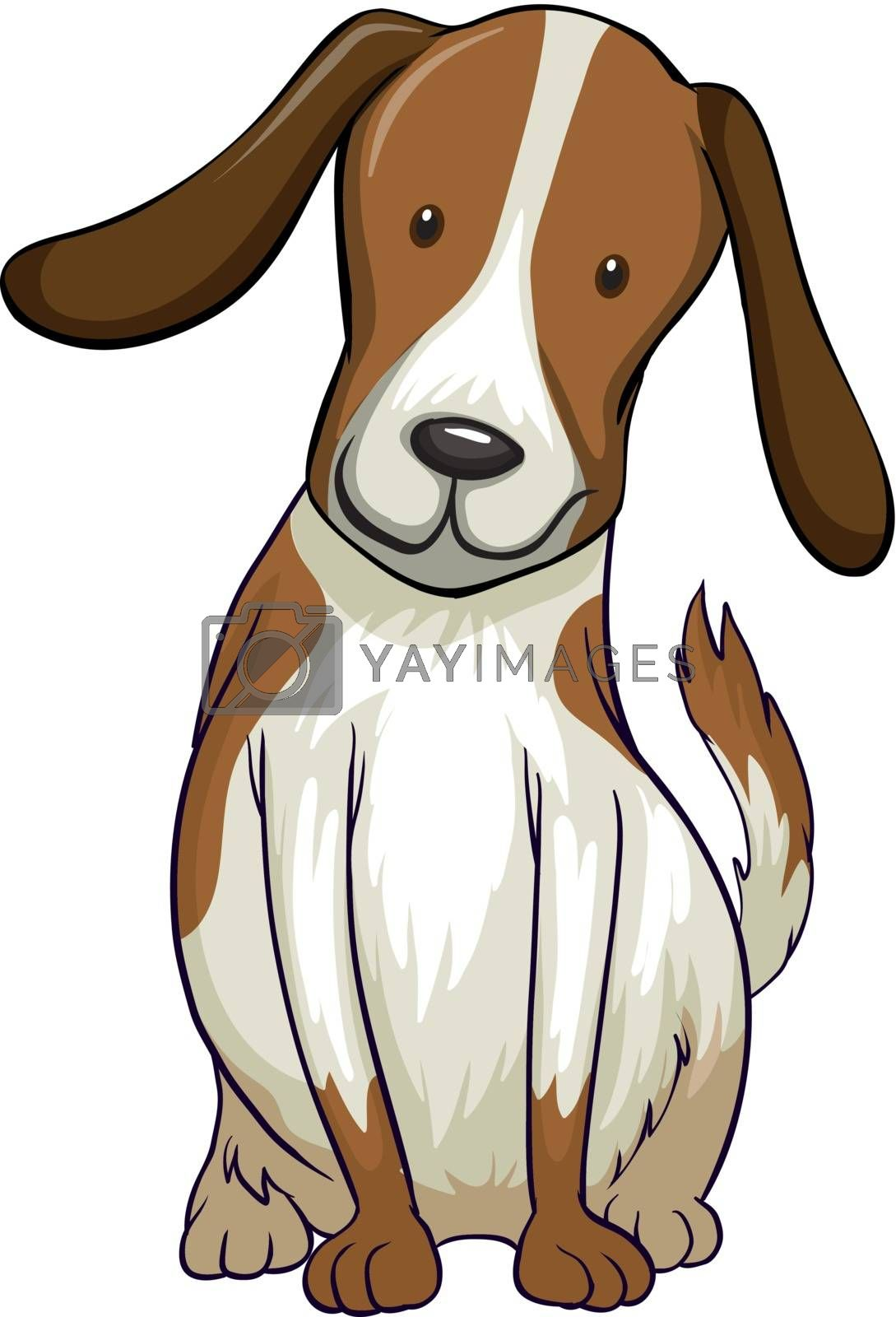 Illustration of a smiling dog on a white background