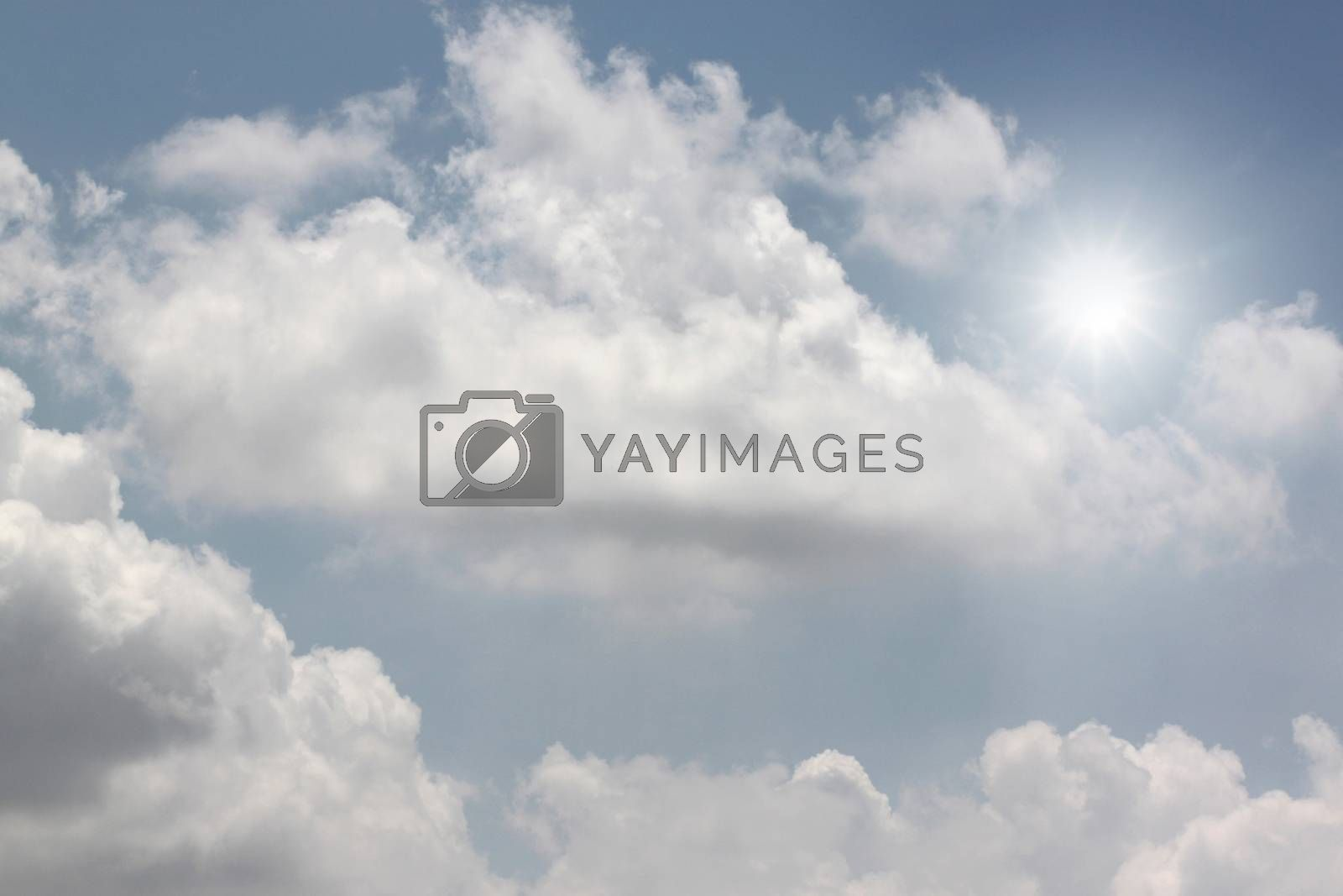 white clouds on blue sky for nature background.