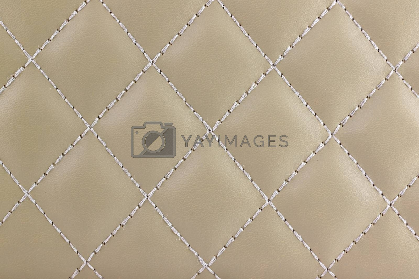 Textured and pattern of  light brown leather for the background.