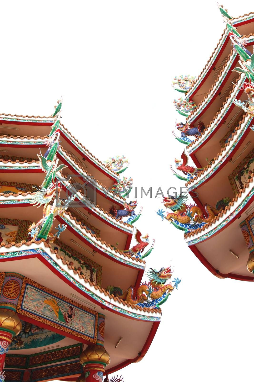 Sculpture in the Chinese Temple. by PiyaPhoto