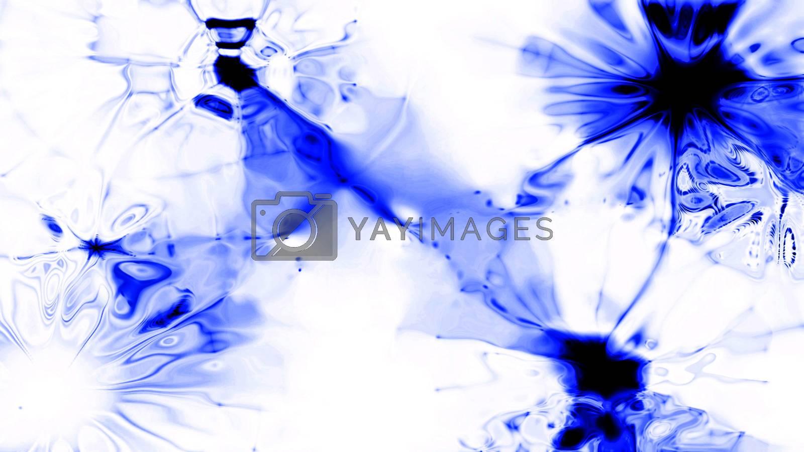 Blue Splatt 0200. A blue fluid splatt.