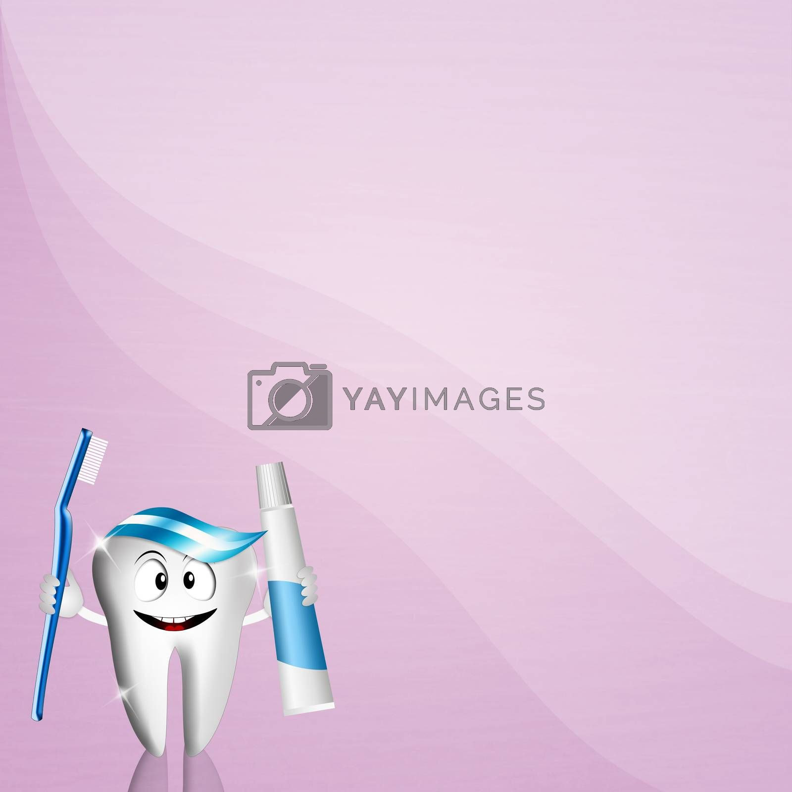 illustration of a Funny tooth for dentist