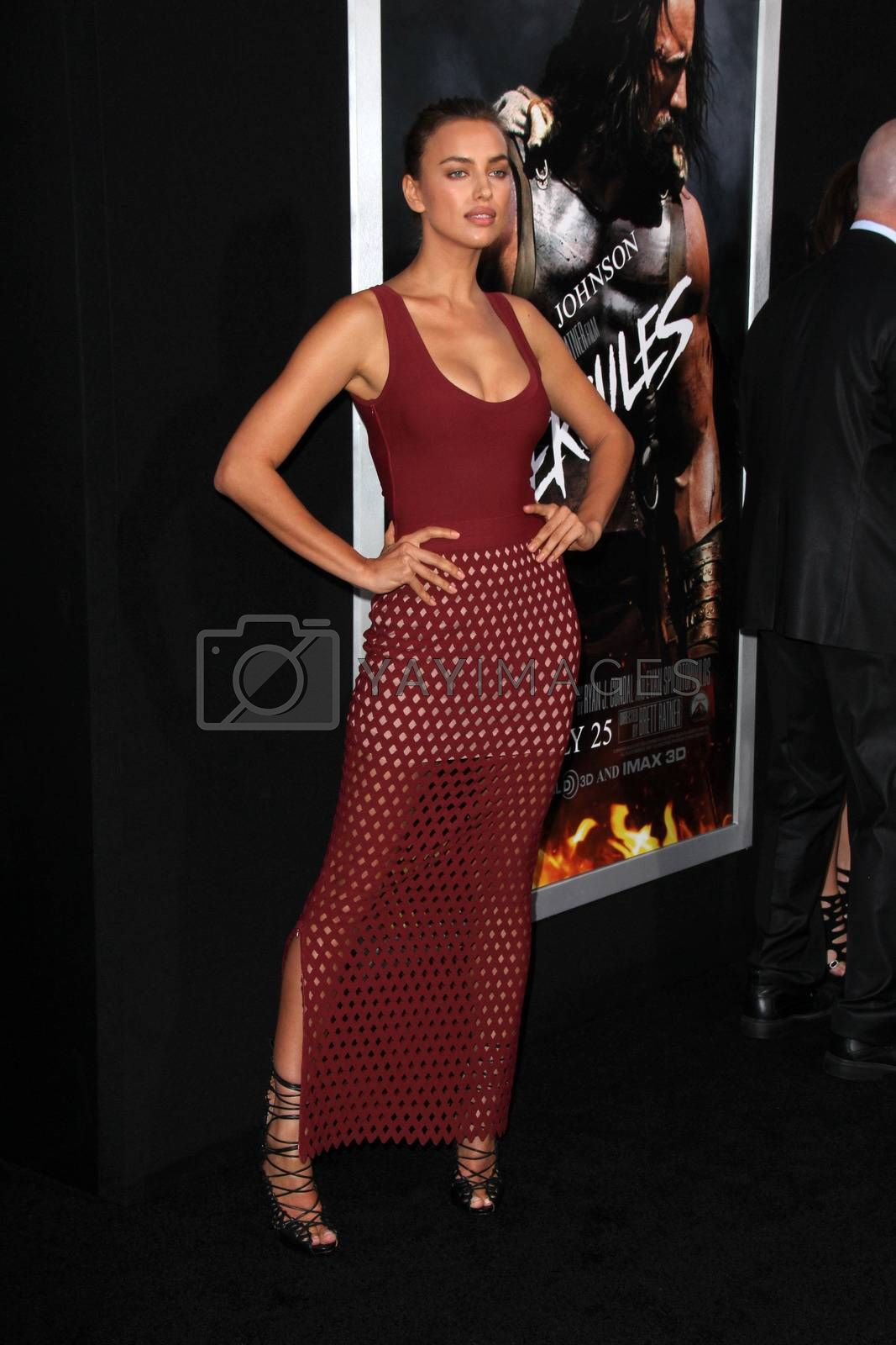 """Royalty free image of Irina Shayk at the """"Hercules"""" Los Angeles Premiere, TCL Chinese Theater, Hollywood, CA  07-23-14/ImageCollect by ImageCollect"""