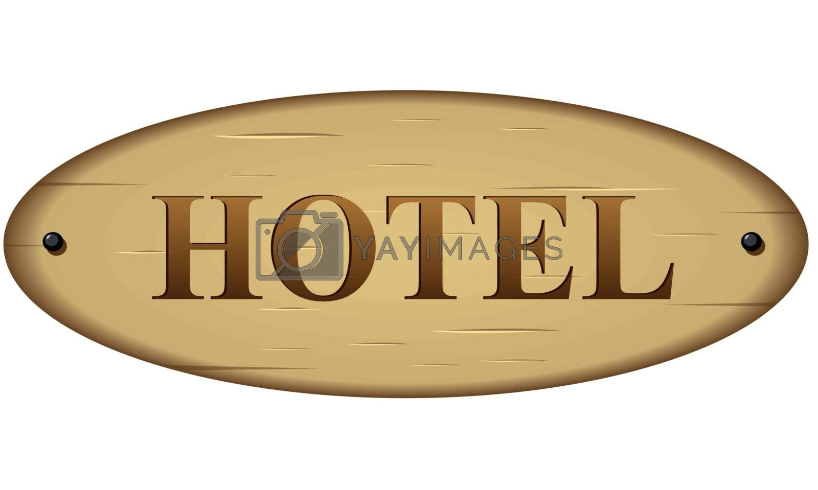 Royalty free image of Vector hotel sign by nickylarson974