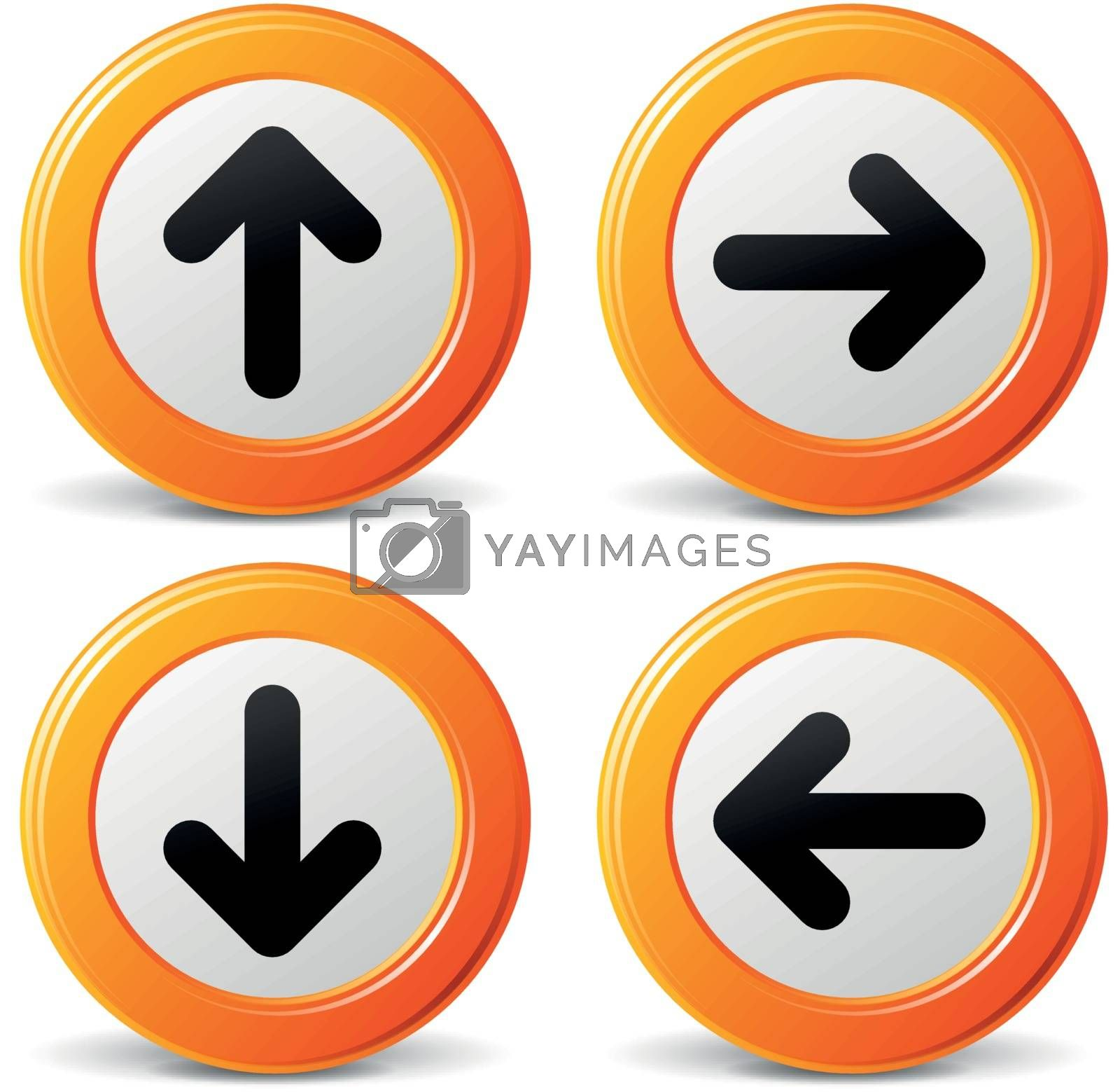 Royalty free image of Vector orange arrows icons by nickylarson974