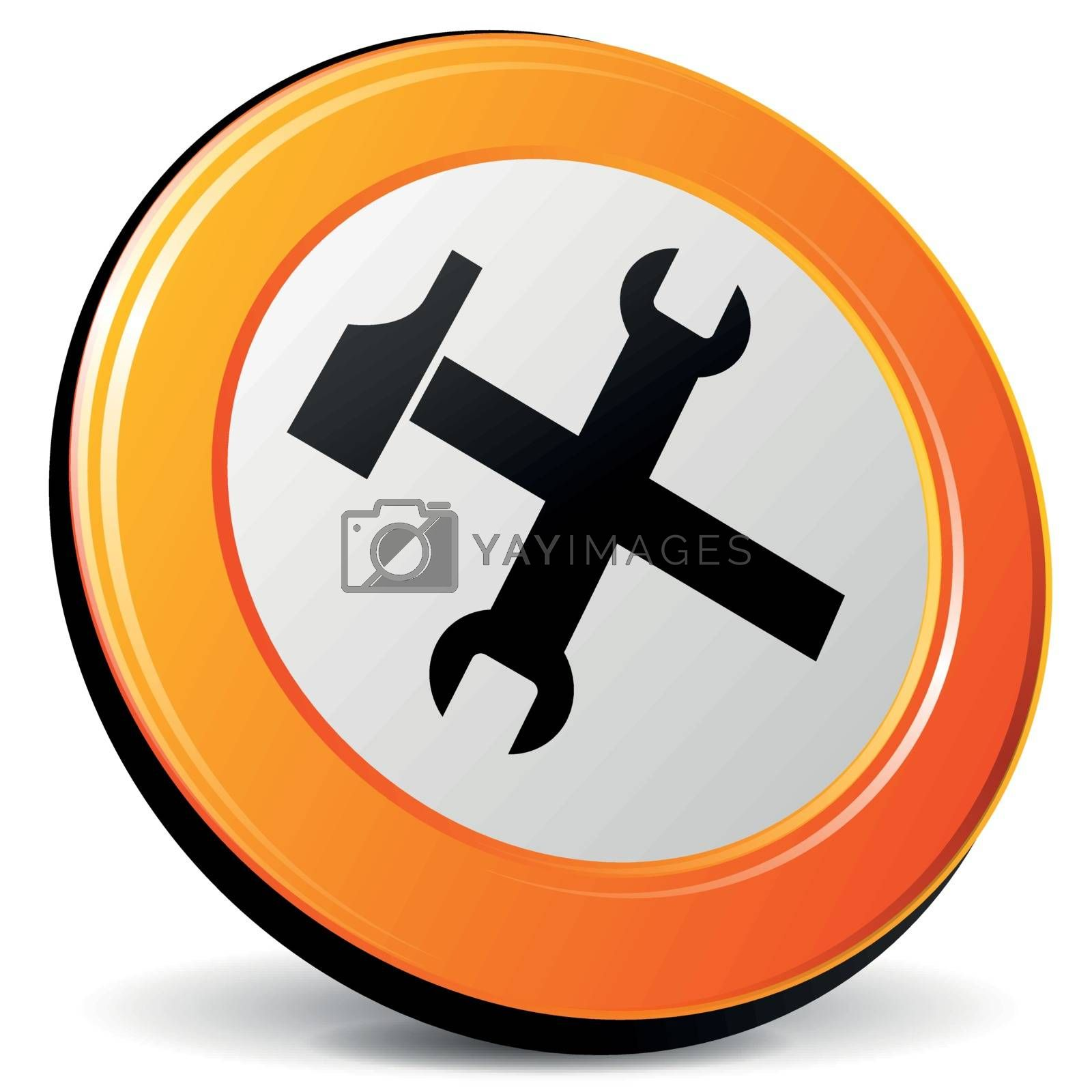 Royalty free image of Vector tools icon by nickylarson974