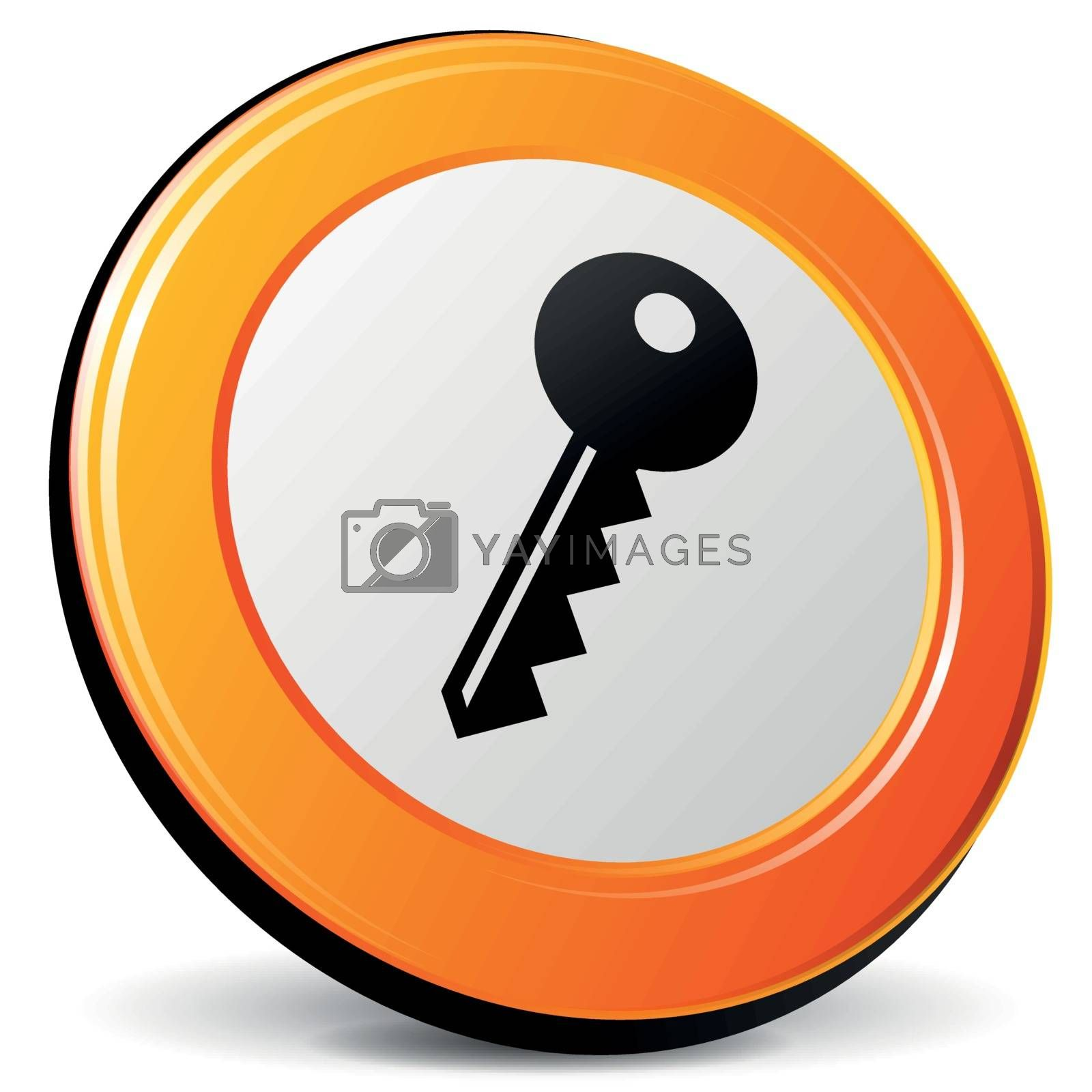 Royalty free image of Vector key icon by nickylarson974