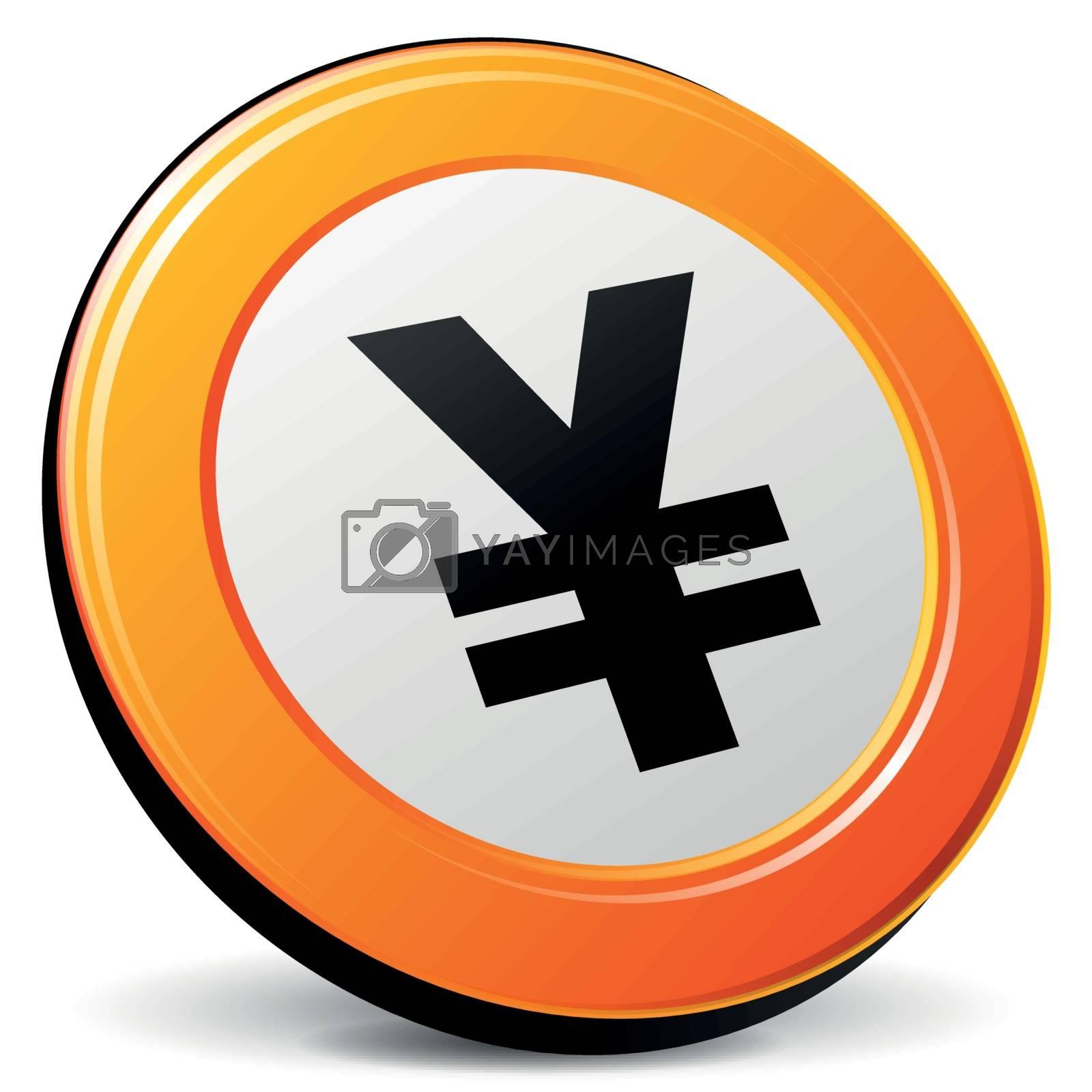 Royalty free image of Vector yen icon by nickylarson974
