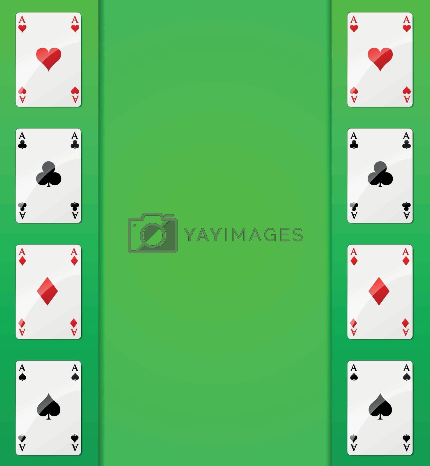 Royalty free image of Vector casino cards background by nickylarson974