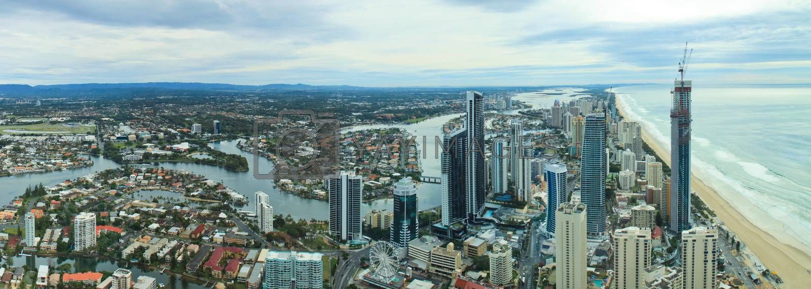 Royalty free image of Aerial view of city at Gold Coast by sorayuth26