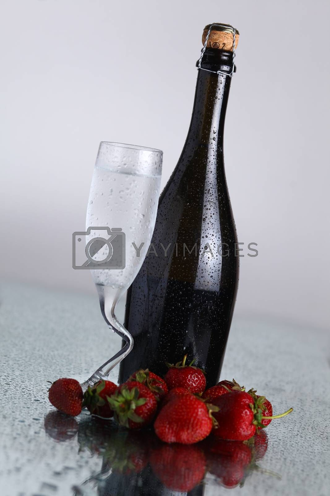 Royalty free image of Champagne bottle by hiddenhallow