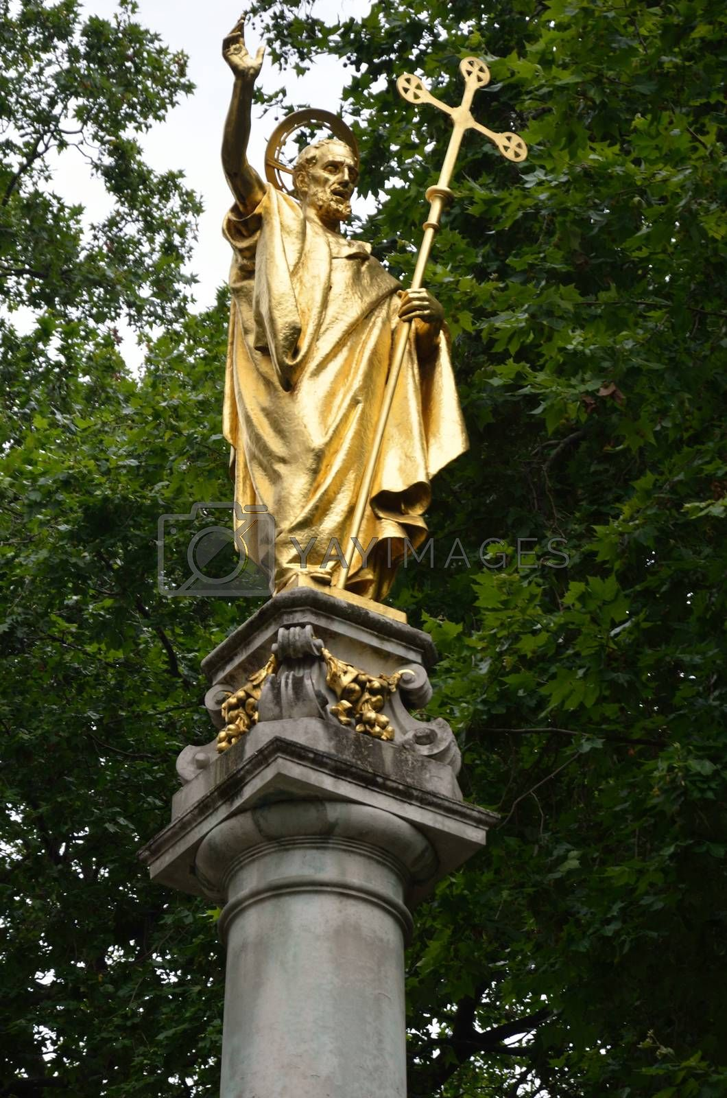 Royalty free image of Statue of st paul at the cathedral  by pauws99