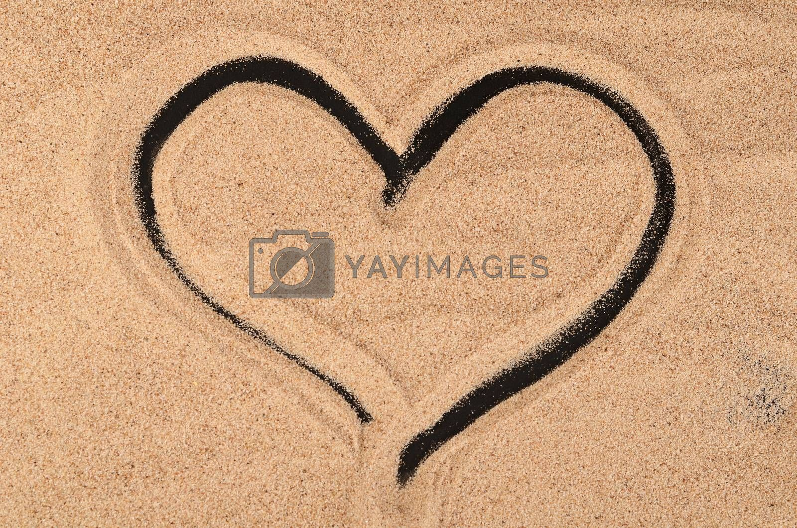 Royalty free image of The sand on the black background by SvetaVo
