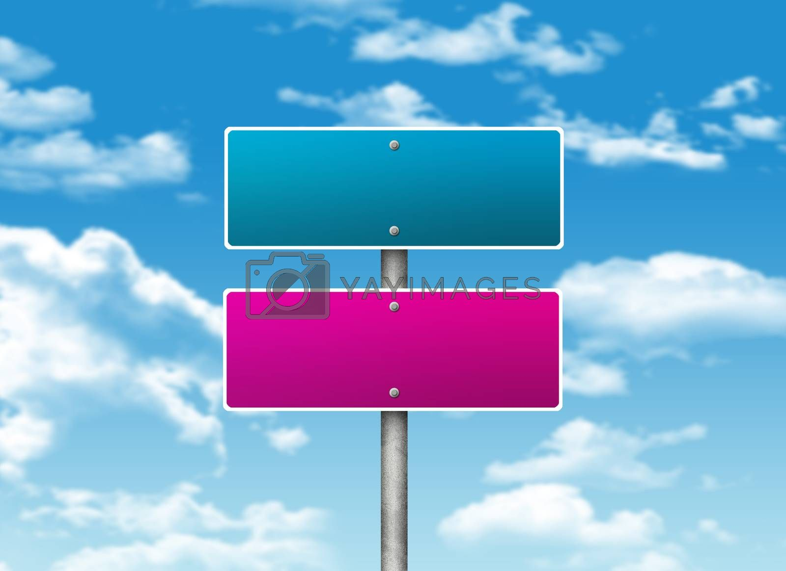 Royalty free image of Crossroads road sign by cherezoff