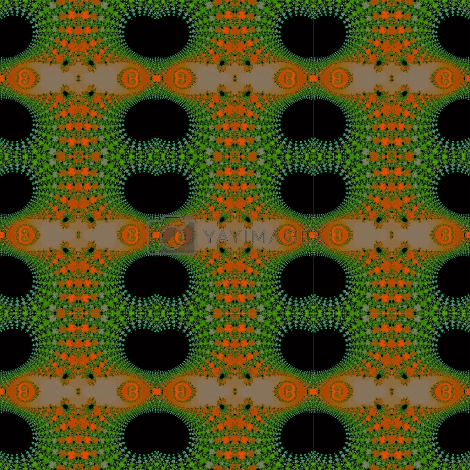 Royalty free image of Seamless fractal pattern. by Astronira