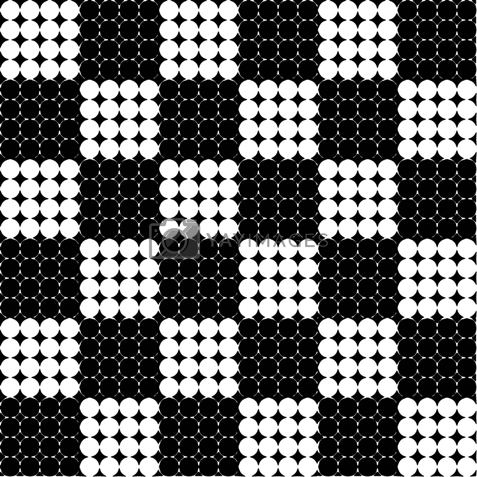 Royalty free image of Seamless geometric pattern with circles by Astronira