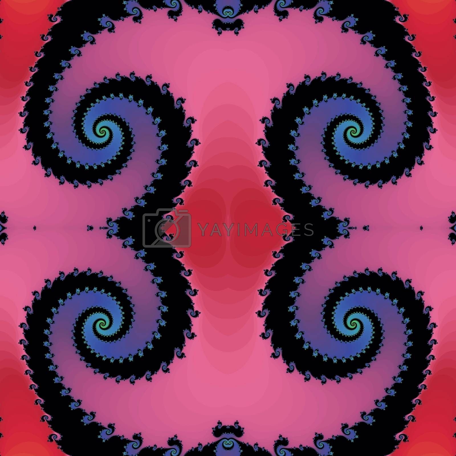 Royalty free image of Decorative fractal ornament in a pink colors by Astronira