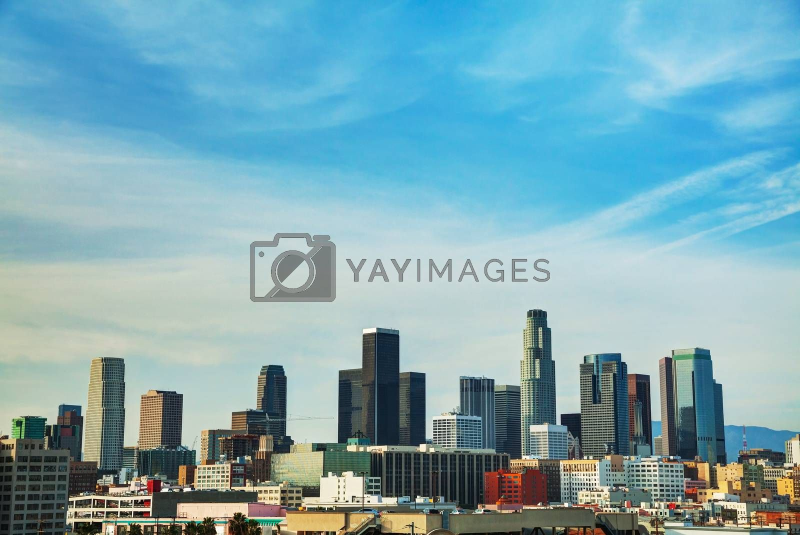 Royalty free image of Los Angeles cityscape by AndreyKr