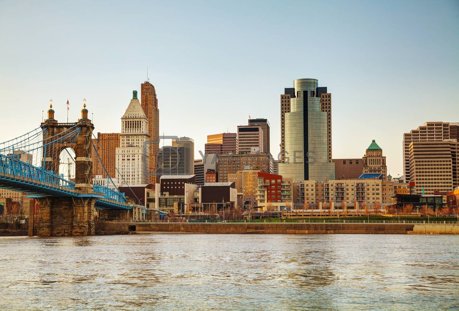 Royalty free image of Cincinnati downtown overview by AndreyKr